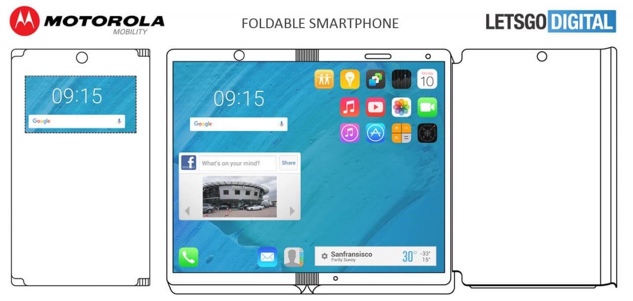 Motorola ha brevettato uno smartphone pieghevole in stile ZTE Axon M (foto)