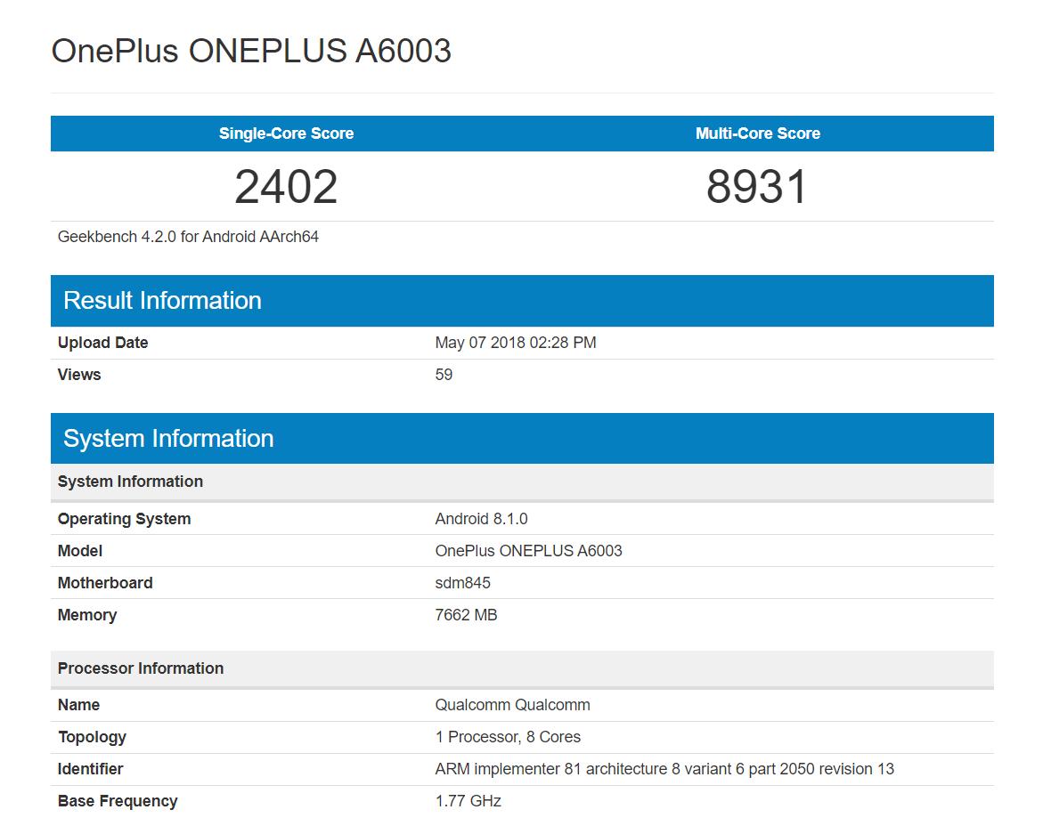 OnePlus-6-Geekbench-Listing