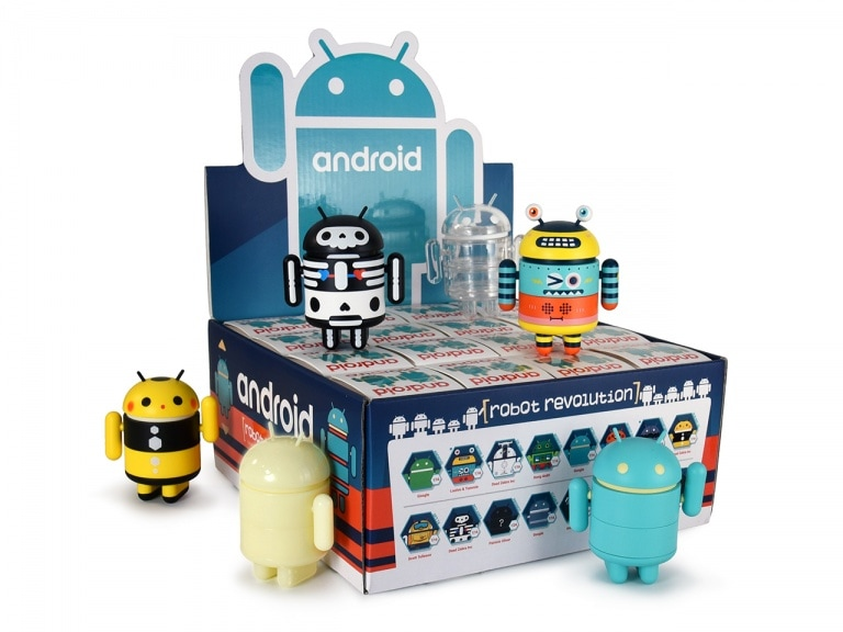 Un robot colorato, uno scheletrico ed uno luminescente: ecco i nuovi tre Android Mini di Dead Zebra (foto)