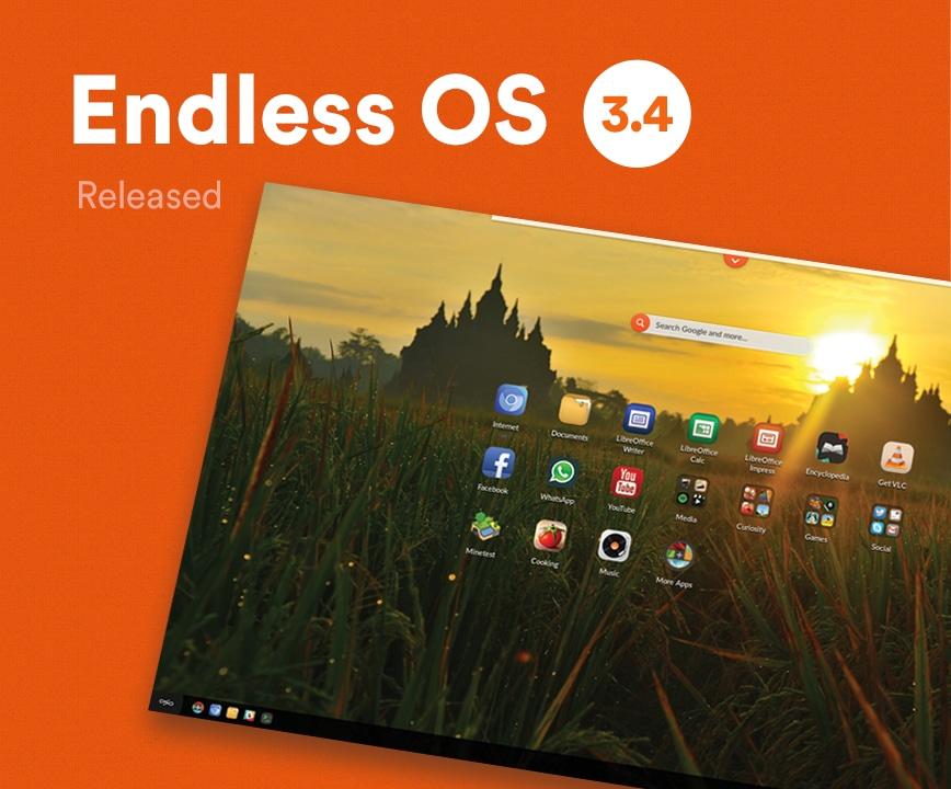 Endless OS, il sistema operativo per chi ha accesso limitato ad Internet, si aggiorna alla versione 3.4