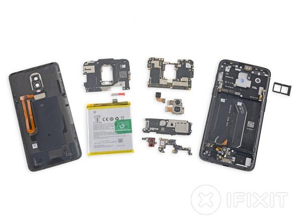 OnePlus 6 smontato da iFixit: meglio degli altri, ma non raggiunge la sufficienza (foto)