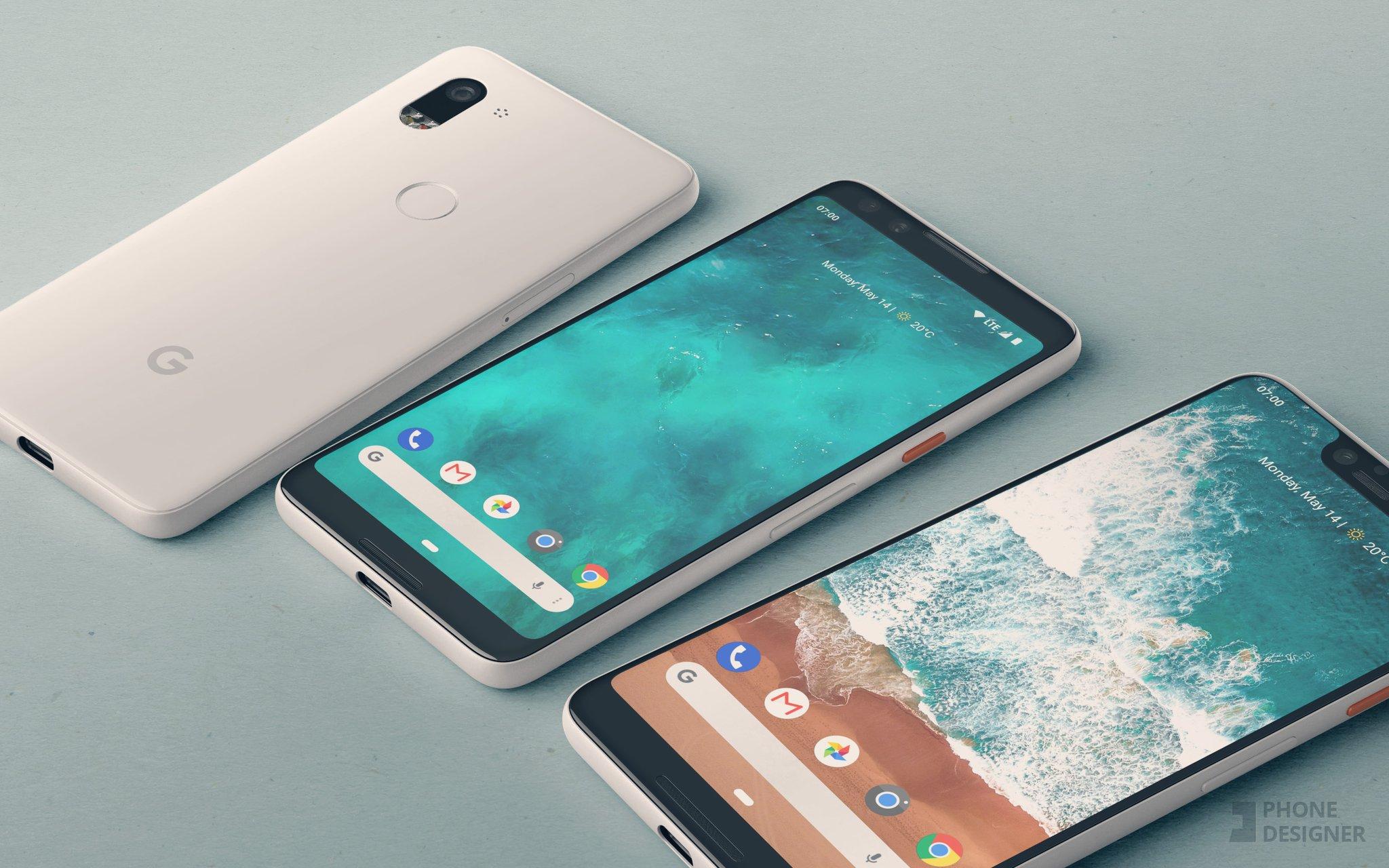 pixel 3 e 3 xl concept