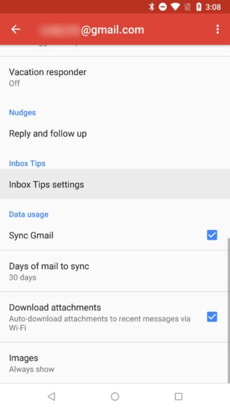 gmail android 8.6