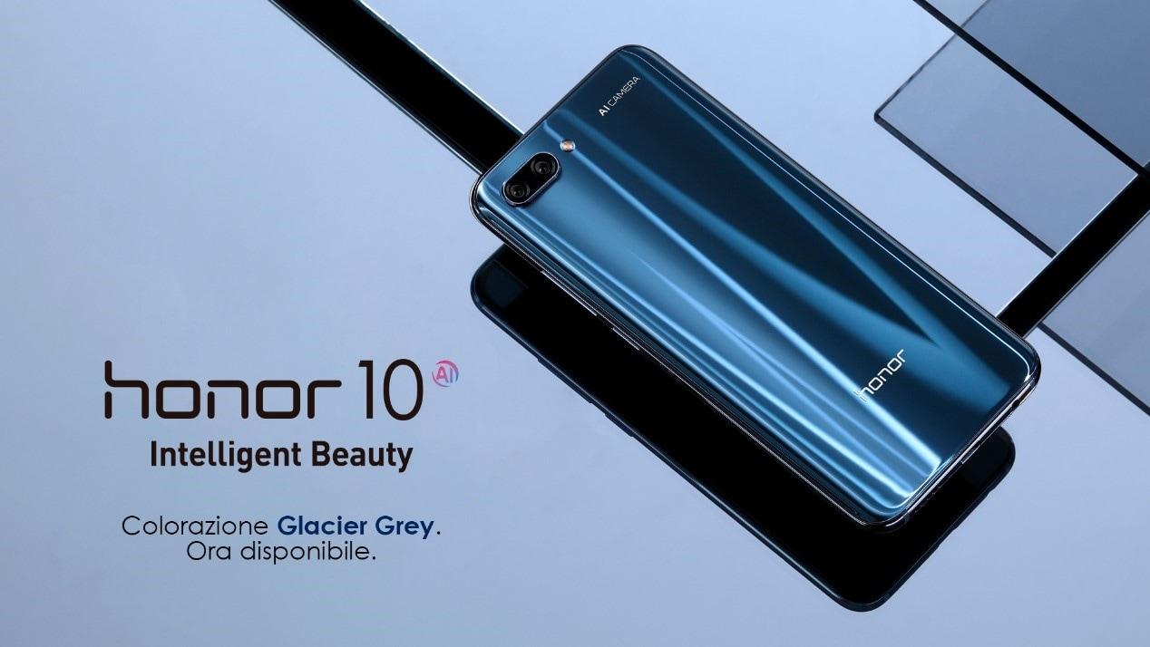 Honor 10: ora disponibili anche in Italia le colorazioni Glacier Grey e la fantastica Phantom Green