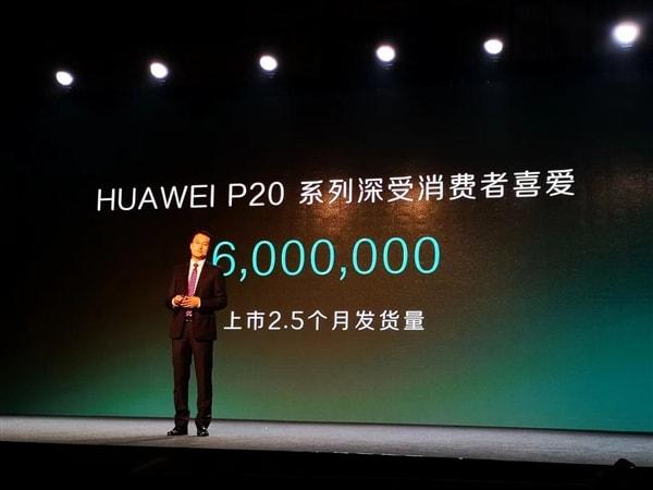 huawei p20 dati vendite
