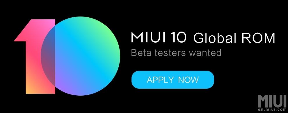 Volete diventare un tester di MIUI 10 Global Beta ROM?
