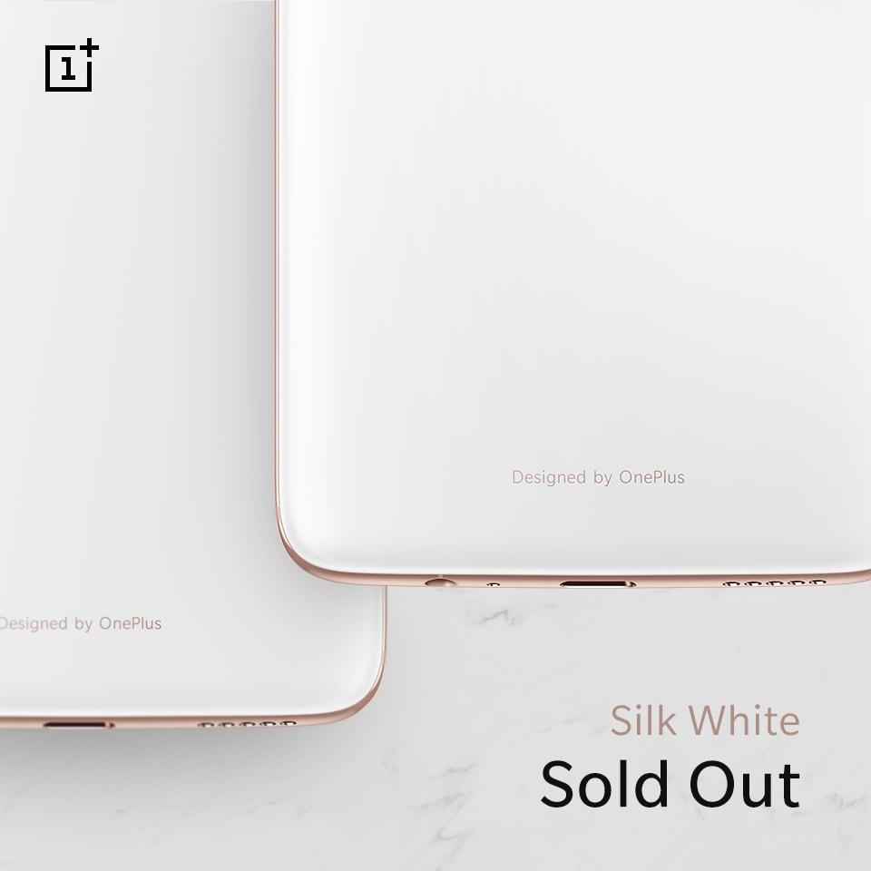 OnePlus 6 Silk White è già esaurito, ma se lo volete non dovrete aspettare troppo