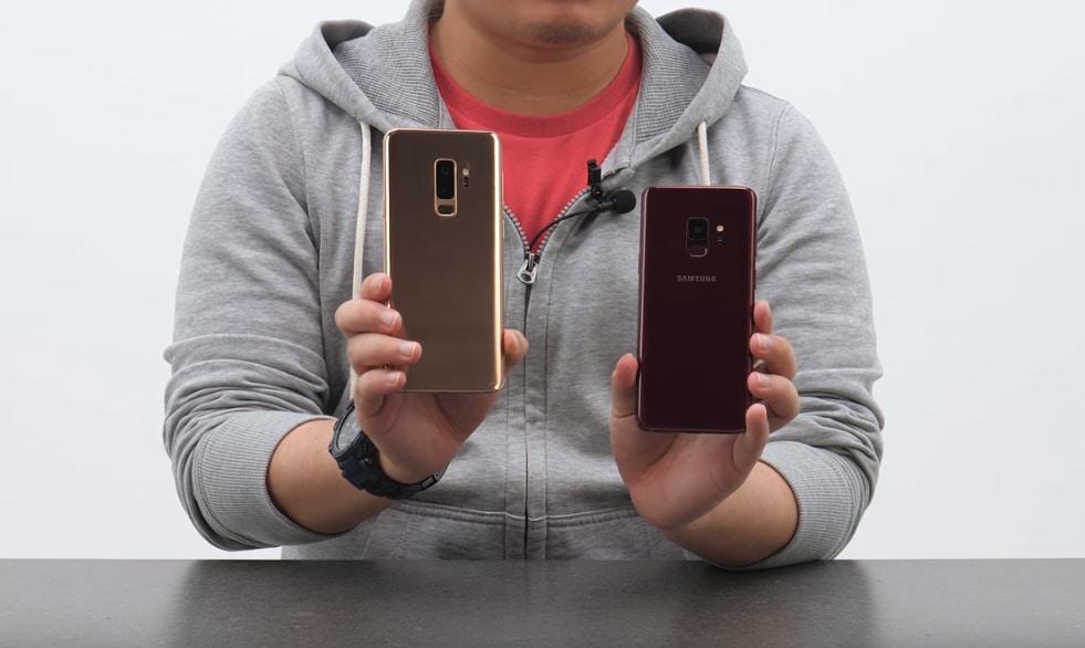 Samsung Galaxy S9 e S9+ oro e rosso: non potrete averli facilmente, ma almeno ora potete ammirarli in dettaglio (video)