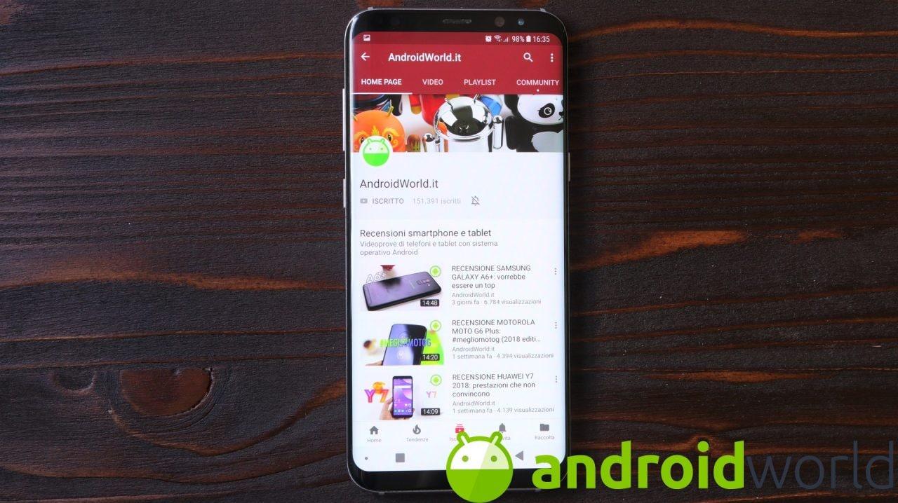 La modalità incognito è disponibile su YouTube per Android. In test miniature più larghe (foto)