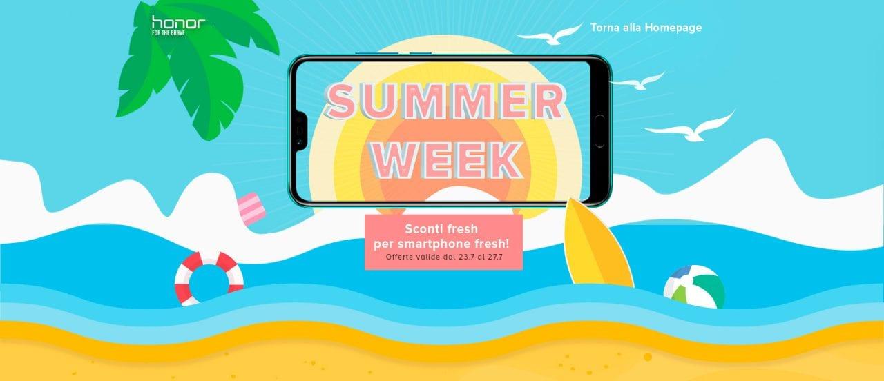 Honor Summer Week: ondata di sconti dal 23 al 27 luglio su HiHonor e un buono da 30€ per Honor 10
