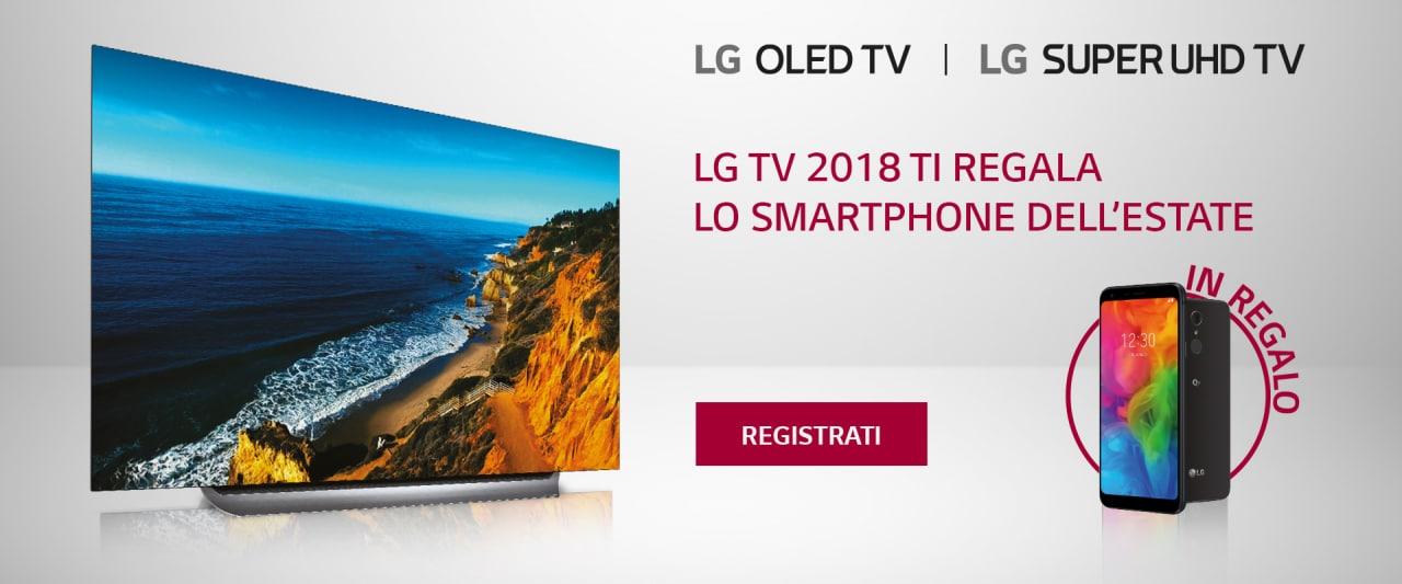 LG regala uno smartphone Q7 a chi acquista uno di questi nuovi TV