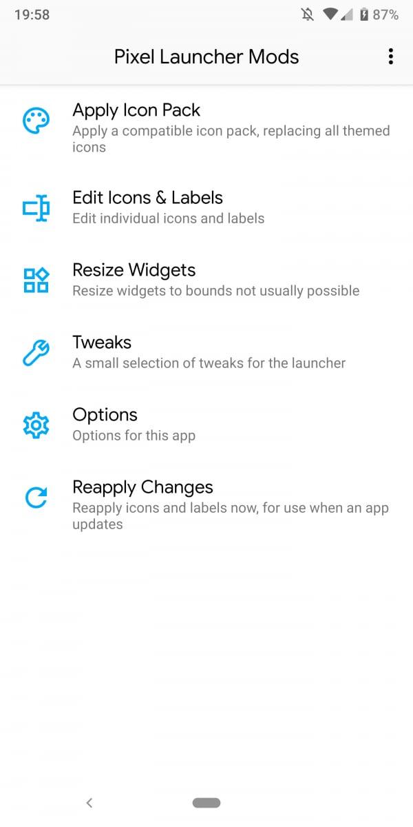 pixel-launcher-mods-options