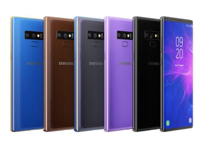 Galaxy Note 9 in tutti i colori possibili mostrato in questi nuovi render (foto)