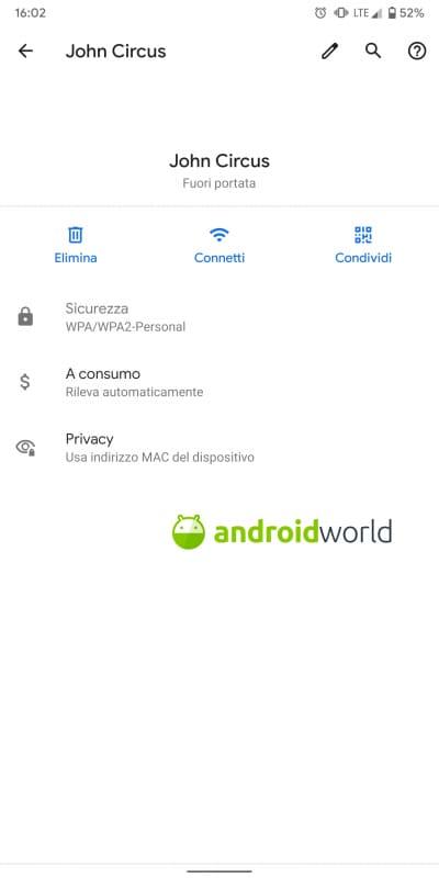 Android Q non supporta più la funzionalità WPS, ma questo
