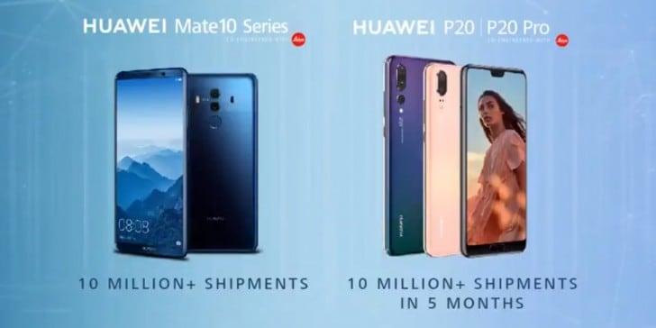 Huawei P20 e P20 Pro hanno venduto tanto quanto Mate 10, ma in solo 5 mesi (foto)
