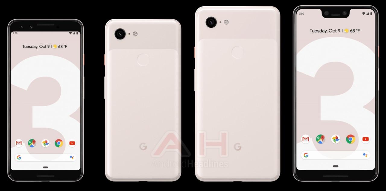 """Pixel 3 e 3 XL continuano a non essere timidi: eccoli in tutte e 3 le colorazioni, """"rosa sabbia"""" inclusa (foto)"""