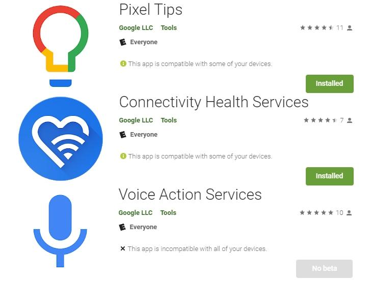 Google pubblica sul Play Store un terzetto di app finora esclusiva dei Pixel (foto e APK download)