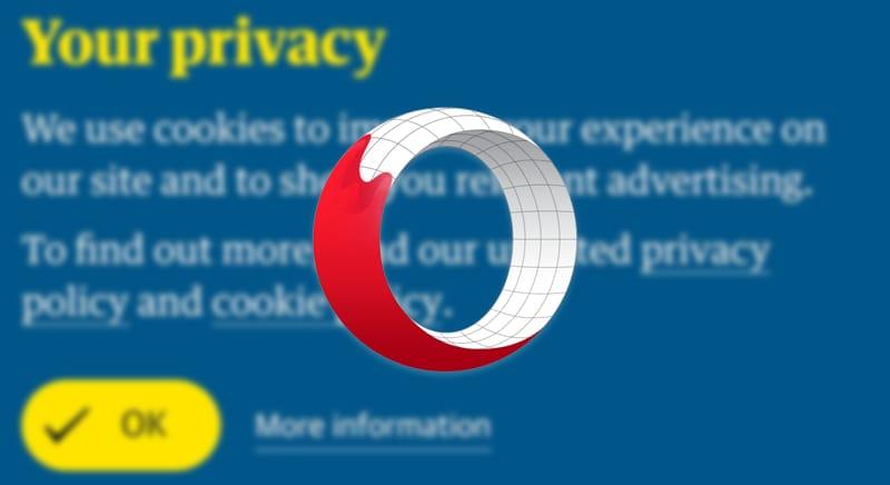 Seccati dai banner per i cookie? L'ultima beta del browser Opera vi permette di nasconderli (foto e APK download)