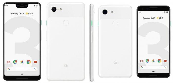 Google Pixel 3 e 3 XL bianco