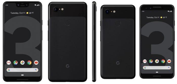 Google Pixel 3 e 3 XL nero