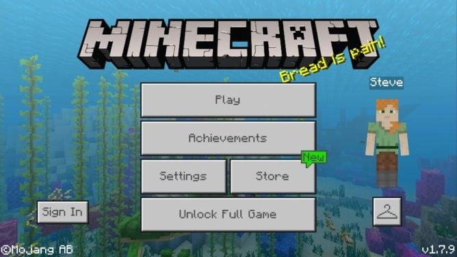 minecraft trial apk download