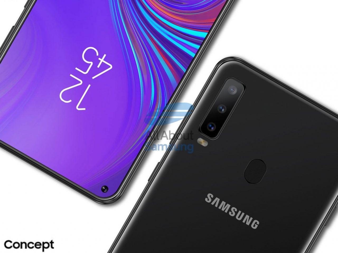 Il buco nel display di Galaxy A8s è confermato da questo screenshot senza alcun foro