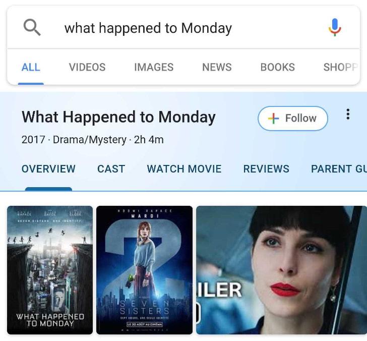 Google sta testando nuove schede per i risultati di ricerca su film, serie, libri, personalità, ecc. (foto)