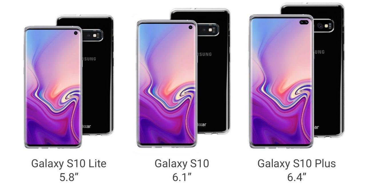 Tutti i Galaxy S10 si mostrano in nuovi render: sorpresa, c'è anche il jack audio! (foto)