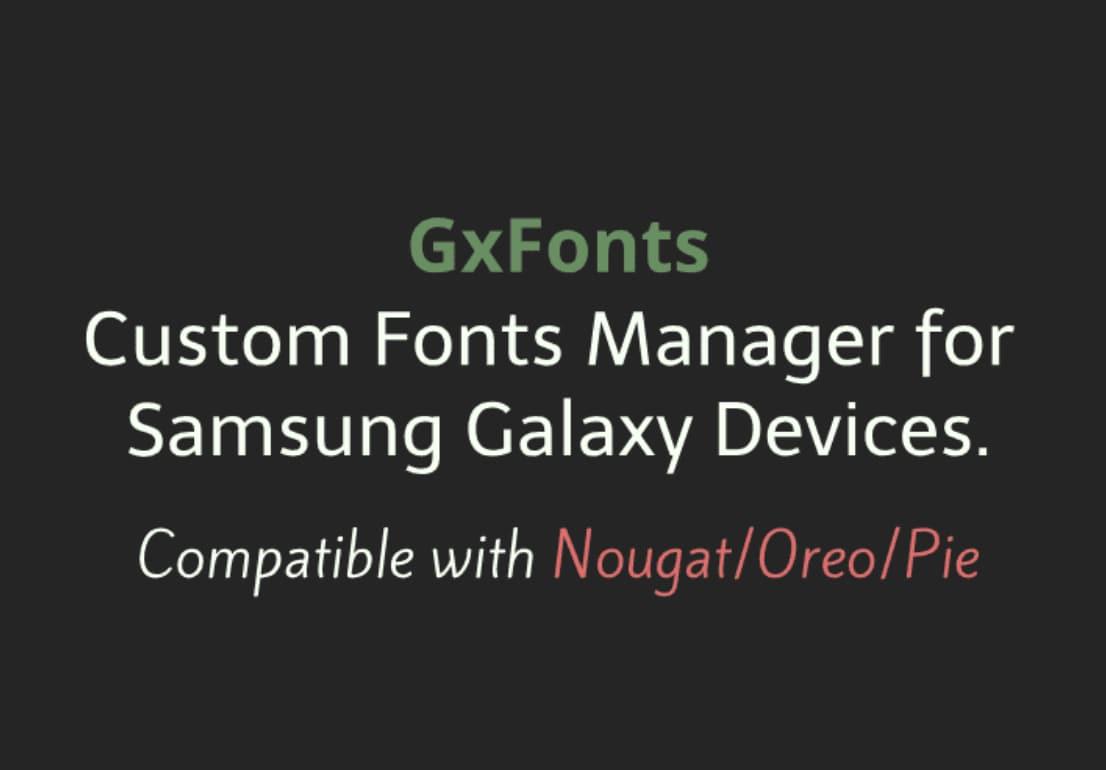 QnA VBage Cambiate il font del vostro smartphone Samsung con GxFonts (foto)