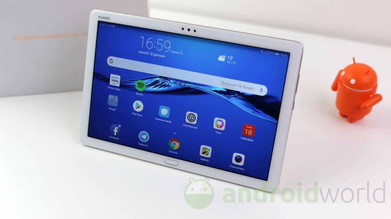 Huawei rilascia un corposo aggiornamento per MediaPad M5 Lite, ma la versione di Android non cambia