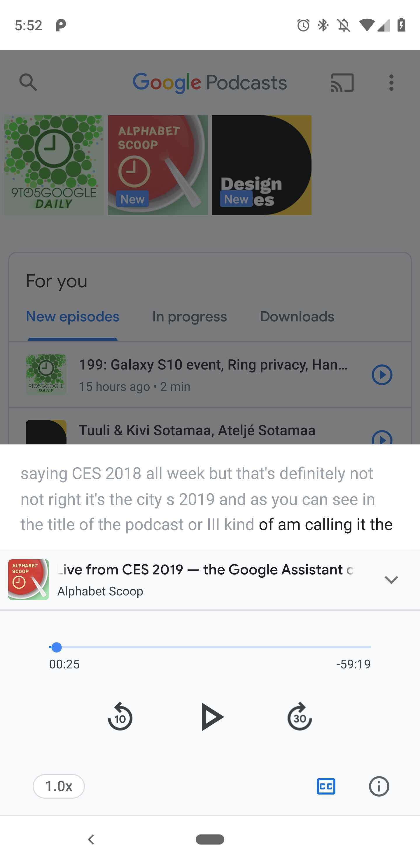 google app podcast e assistant