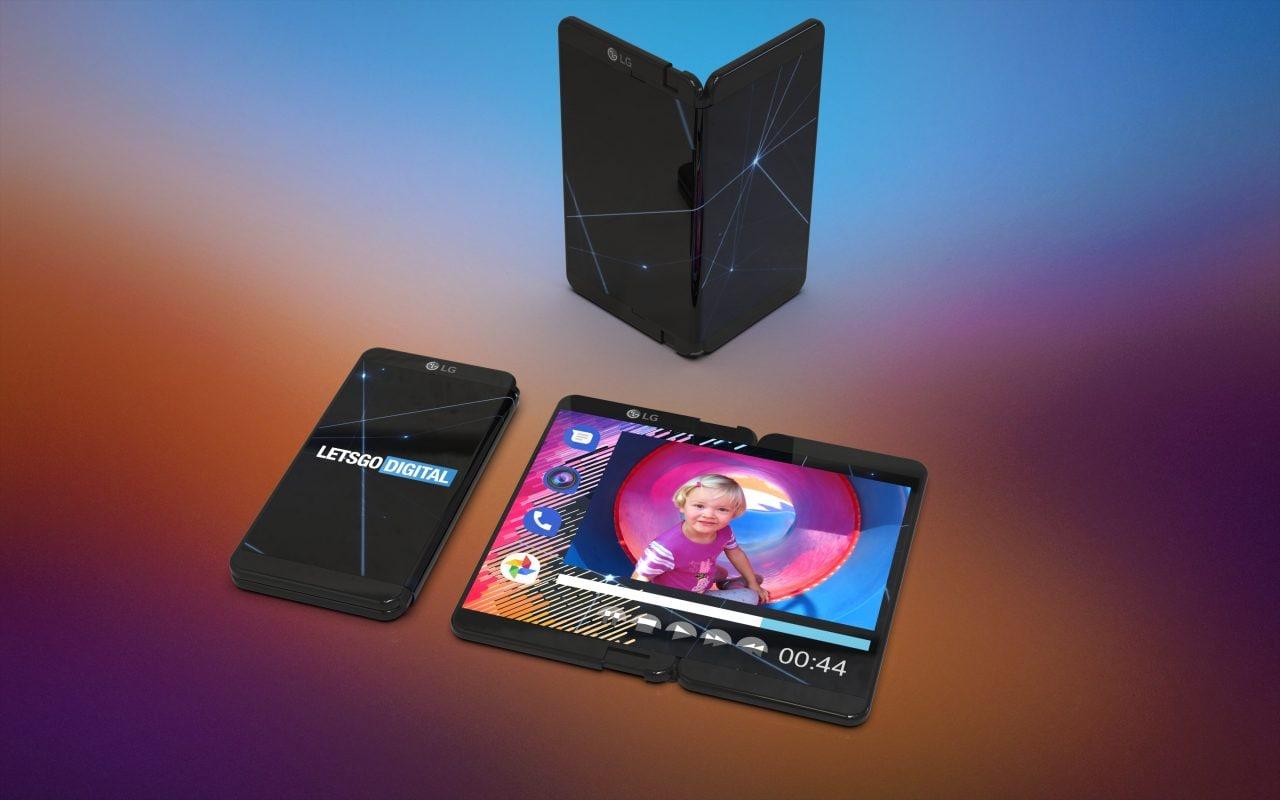 LG pensa ad uno smartphone pieghevole che non necessita di due display (foto)