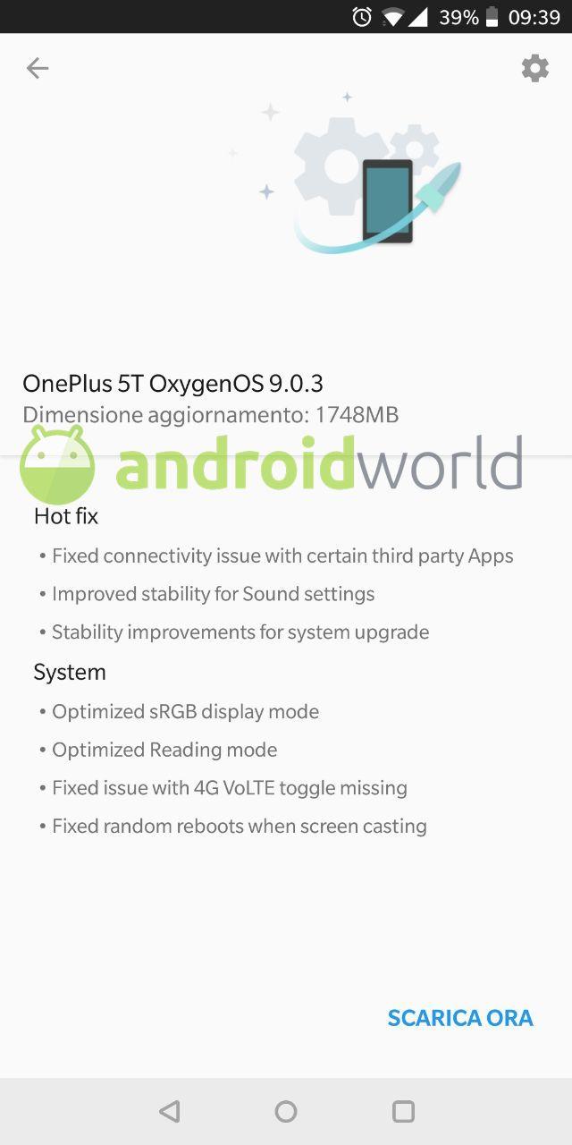 oneplus-5t-aggiornamento-oxygen-9-0-3