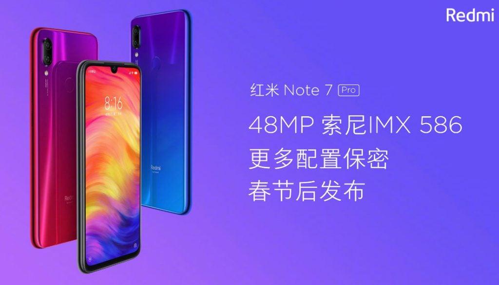 Redmi Note 7 Pro arriverà ufficialmente la prossima settimana, almeno in Cina (aggiornato: foto)
