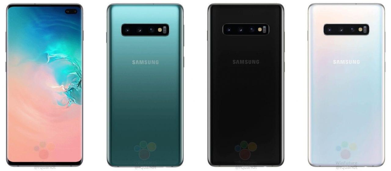 """I render """"ufficiali"""" di Galaxy S10 E (ex-S10 Lite) confermano display flat col foro e doppia fotocamera posteriore (foto)"""