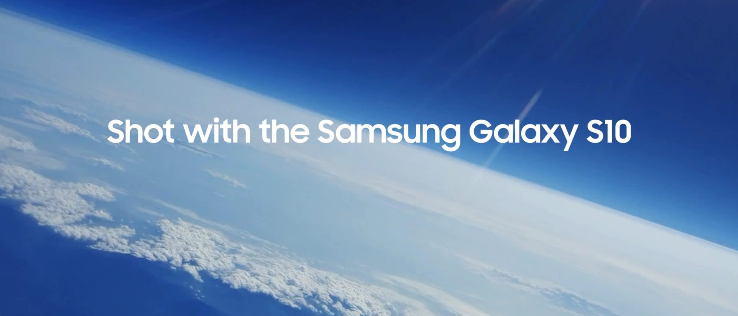 Galaxy S10 è uno smartphone spaziale: Samsung Malesia lo ha spedito nella Stratosfera! (video)
