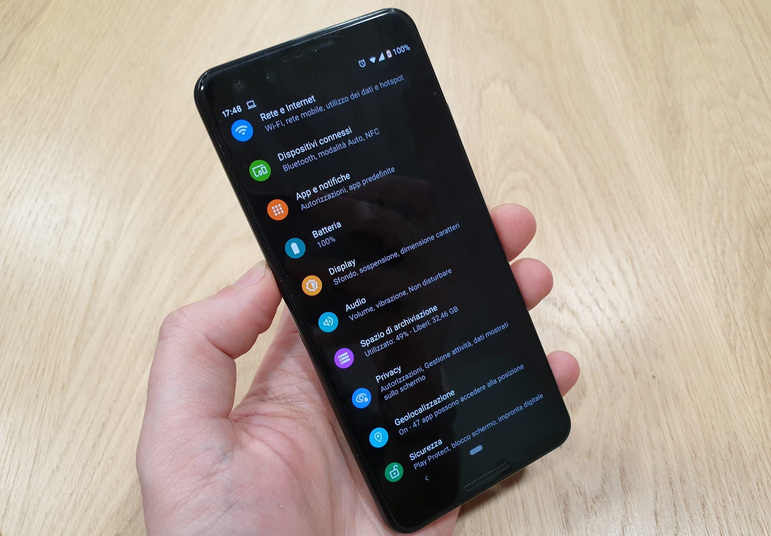 Come abilitare il tema scuro in Android Q