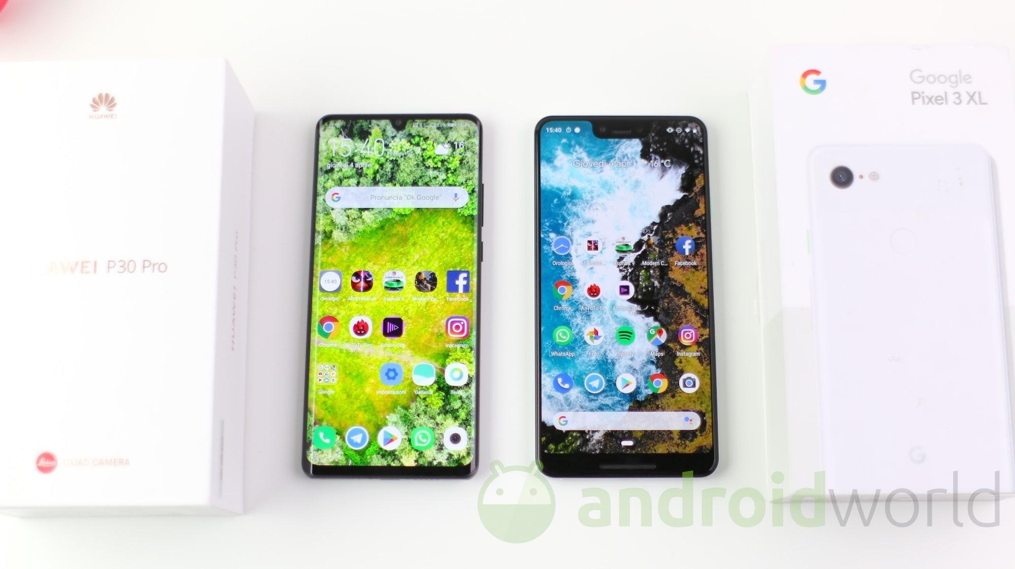Google Pixel 3 XL – Huawei P30 Pro – 1