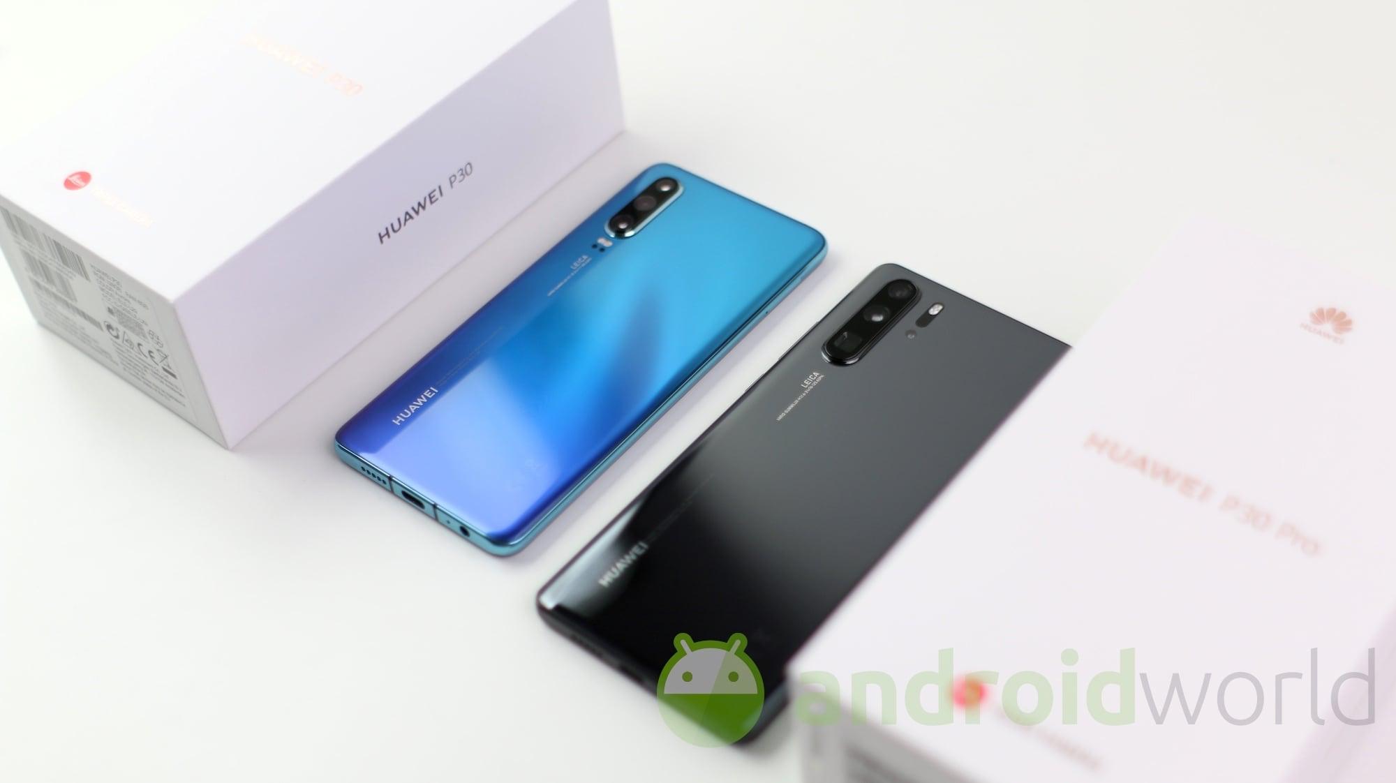 Huawei P30 Pro si mostra in due bellissimi nuovi colori a Berlino e ci suggerisce l'arrivo di Android 10 (foto e video)