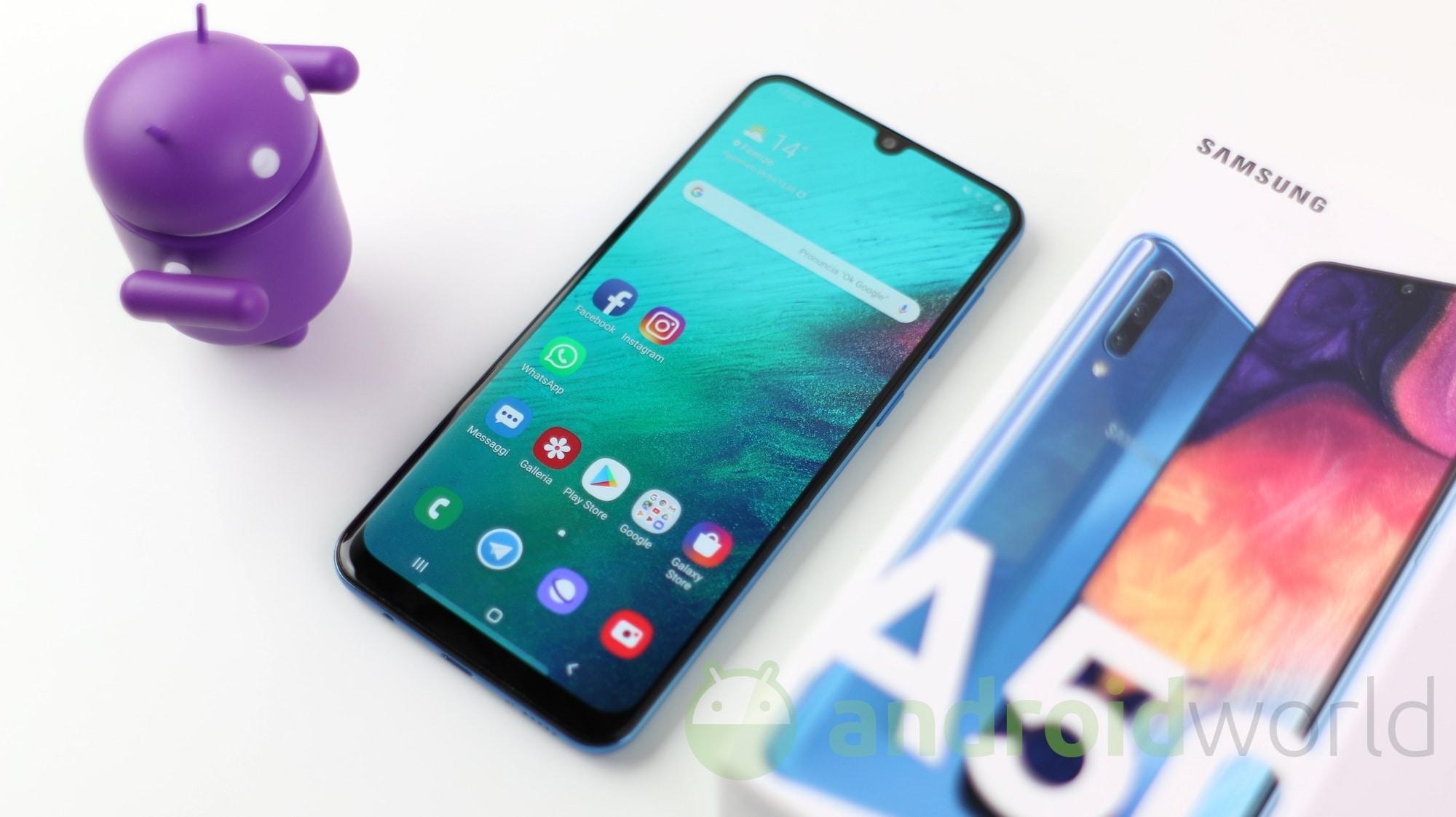Android 11, One UI 3.1 e patch di sicurezza marzo 2021: tutto in arrivo per Samsung Galaxy A50 e A50s (aggiornato)