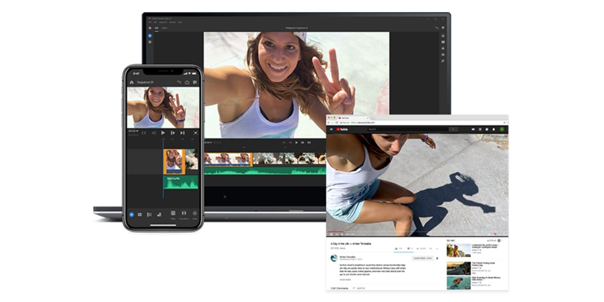 Adobe Premiere Rush è disponibile per Android: prova gratuita e ottimizzazioni per i device Samsung (video e foto)