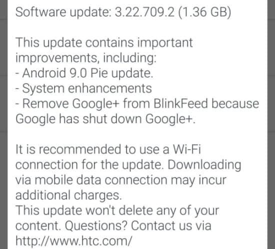 HTC-U11-Android-Pie-update