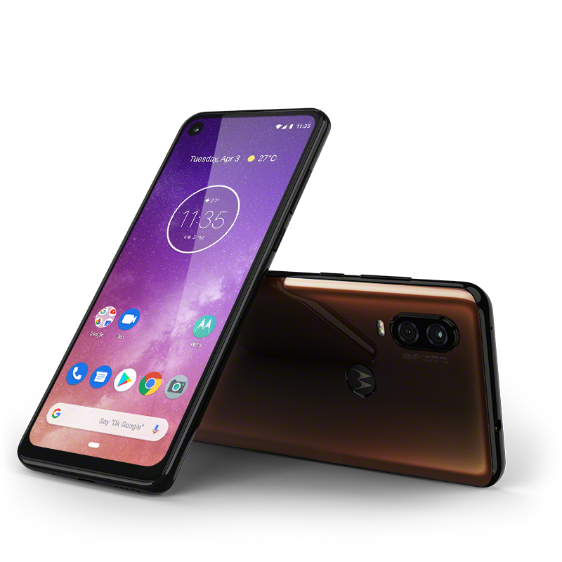 Motorola one Vision_ROW_Bronze Gradient_LayDown Combo