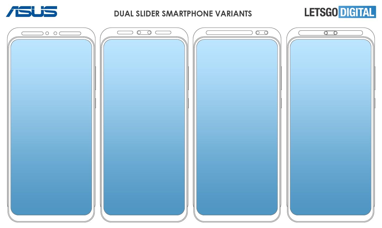 Asus ha brevettato ben cinque varianti di un telefono con doppio slider, che sia il prossimo ZenFone? (foto)