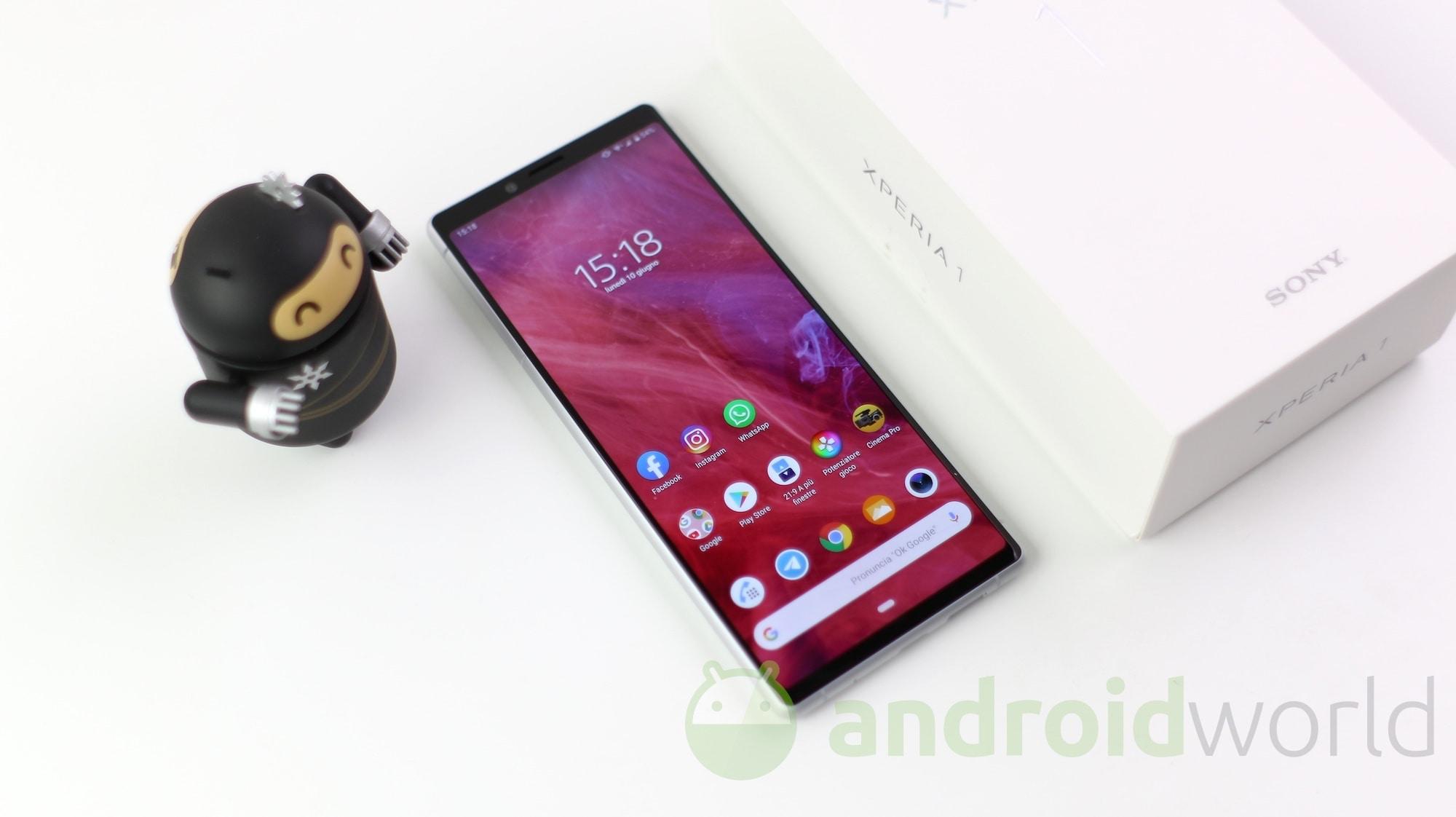 Sony Xperia 1 si aggiorna: miglioramenti al comparto fotografico e patch di sicurezza di settembre 2019 (foto)