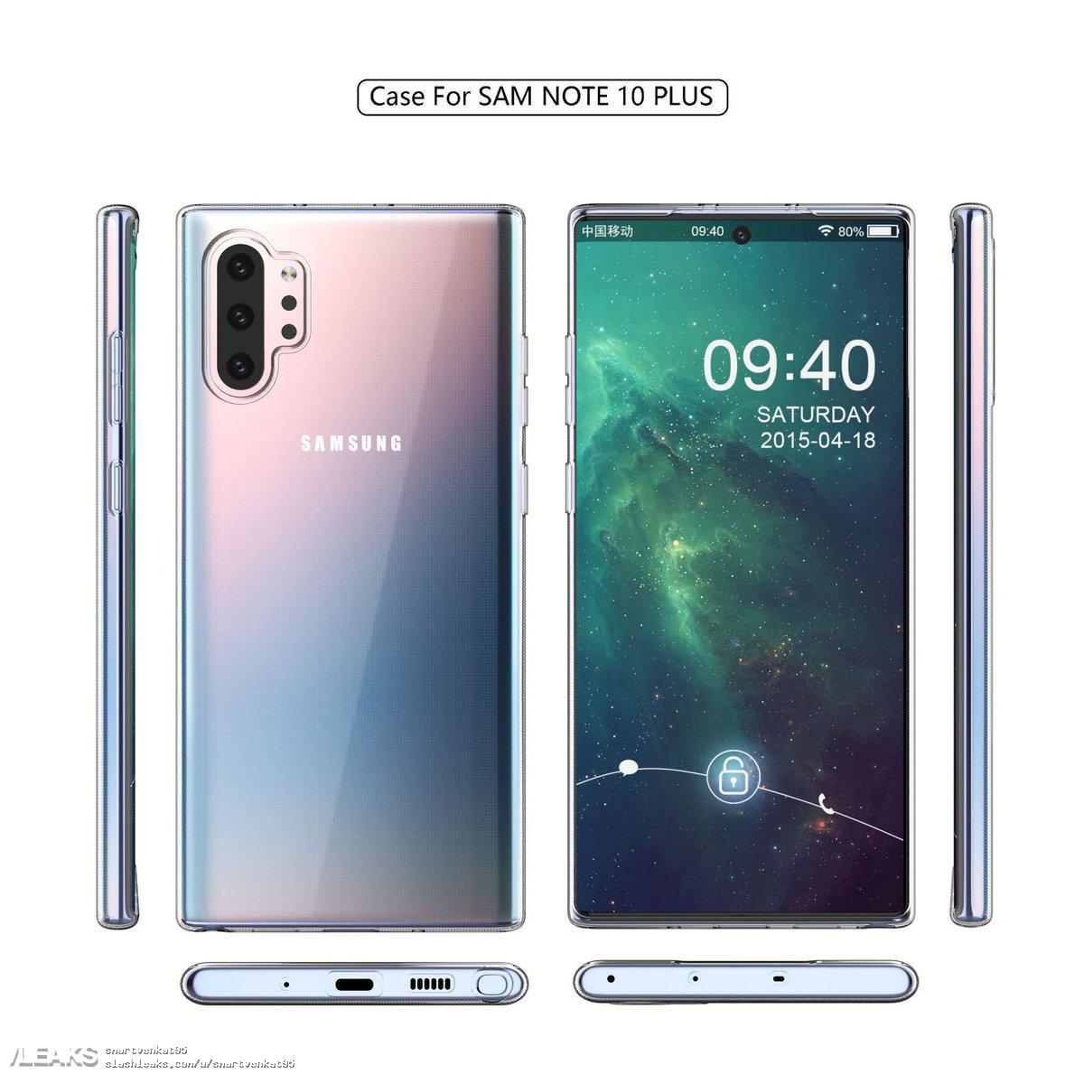 Galaxy Note 10: nuovi render creano un dubbio. Sarà Plus o sarà Pro? (foto)
