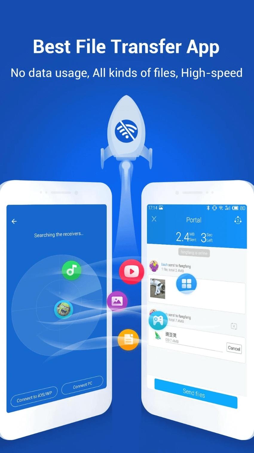 SHAREit, l'app per condividere di tutto con tutti anche offline, si aggiorna con una paio di nuove funzioni