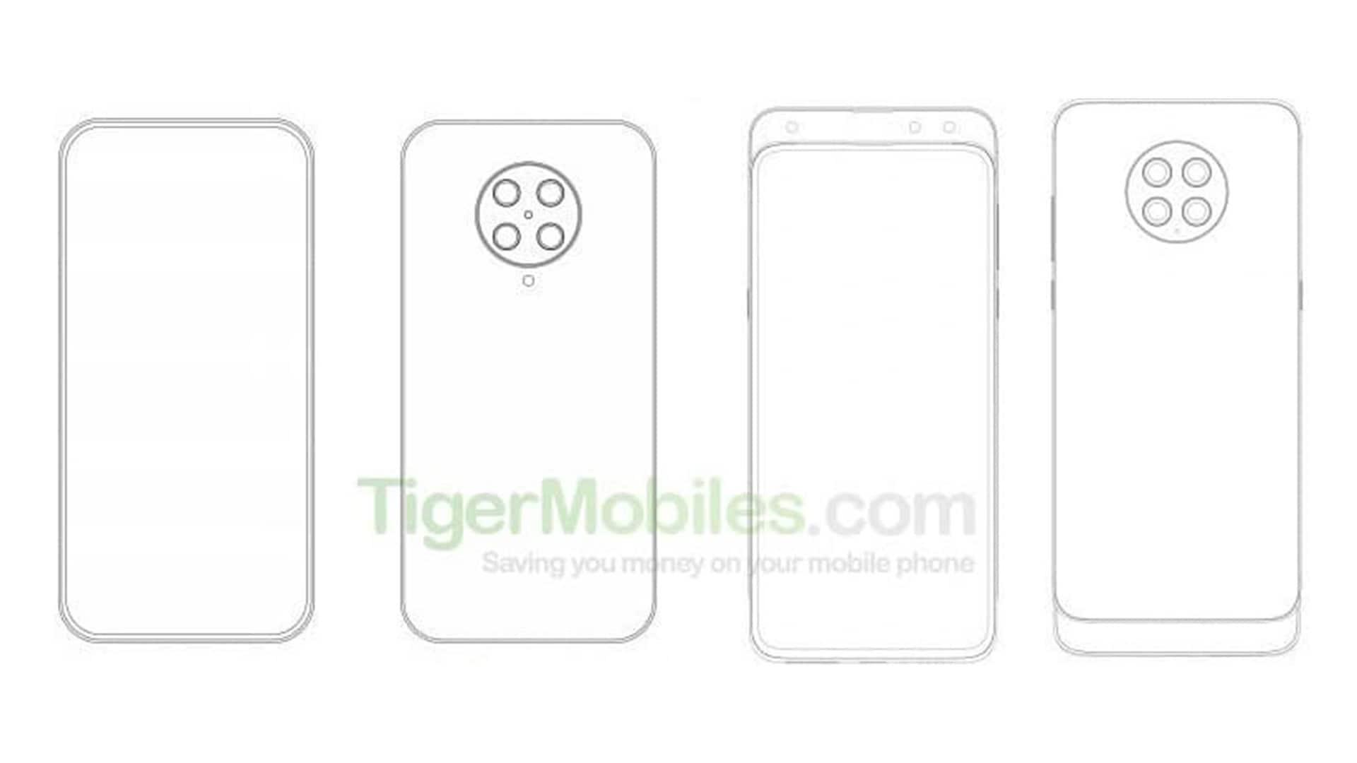 Xiaomi brevetta smartphone con 4 fotocamere, slider e stravaganti notch curvi