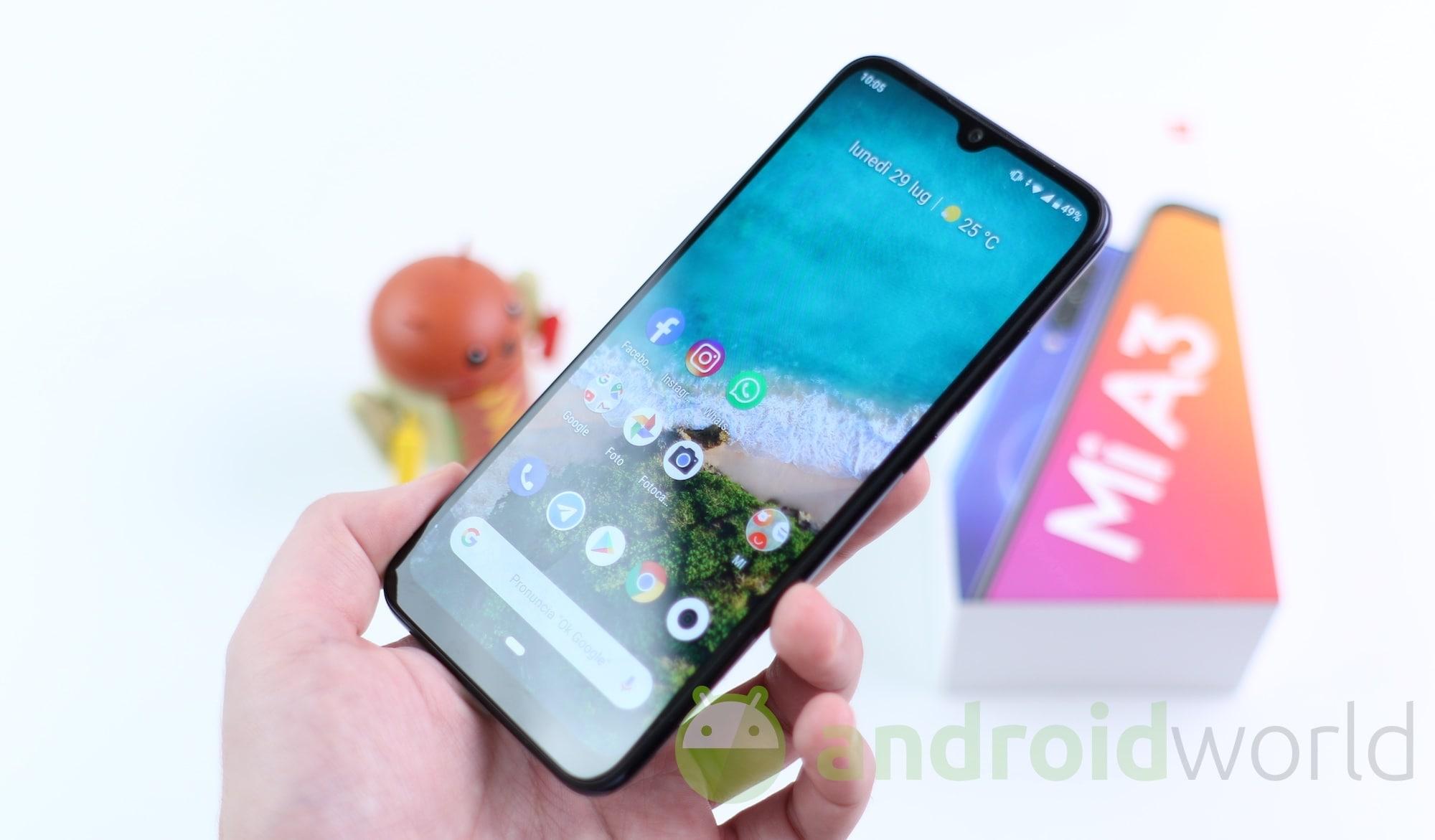 Xiaomi Mi A3 vi tenta su Amazon: oggi in sconto speciale a 201€ (video)