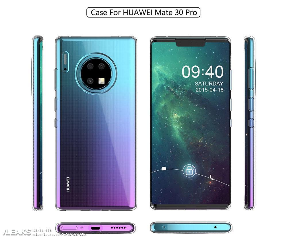 Addirittura 4 fotocamere posteriori per Huawei Mate 30 Pro, se crediamo a questo poster trapelato